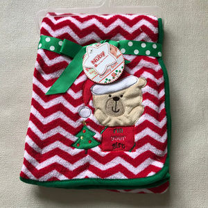 Baby Plush Blanket Holiday Christmas Tree Red